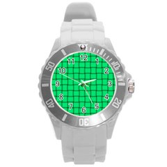 Spring Green Weave Plastic Sport Watch (Large)