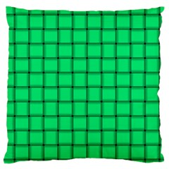 Spring Green Weave Large Cushion Case (One Side)