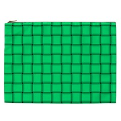 Spring Green Weave Cosmetic Bag (xxl)