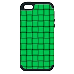 Spring Green Weave Apple iPhone 5 Hardshell Case (PC+Silicone)