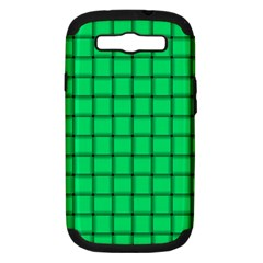 Spring Green Weave Samsung Galaxy S III Hardshell Case (PC+Silicone)