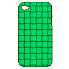 Spring Green Weave Apple iPhone 4/4S Hardshell Case (PC+Silicone)