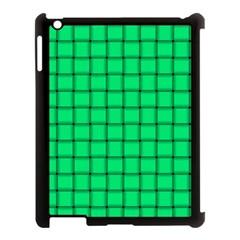 Spring Green Weave Apple Ipad 3/4 Case (black)