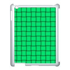 Spring Green Weave Apple iPad 3/4 Case (White)