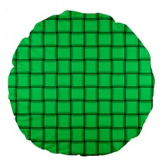 Spring Green Weave 18  Premium Round Cushion