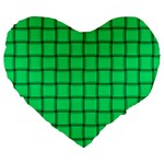 Spring Green Weave 19  Premium Heart Shape Cushion Front