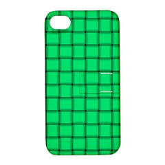 Spring Green Weave Apple iPhone 4/4S Hardshell Case with Stand