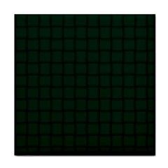 Dark Green Weave Ceramic Tile