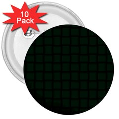 Dark Green Weave 3  Button (10 Pack)
