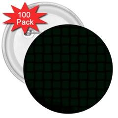 Dark Green Weave 3  Button (100 pack)