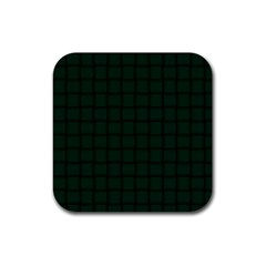 Dark Green Weave Drink Coaster (Square)