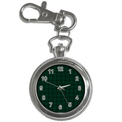 Dark Green Weave Key Chain & Watch