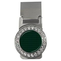 Dark Green Weave Money Clip (CZ)