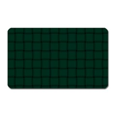 Dark Green Weave Magnet (Rectangular)
