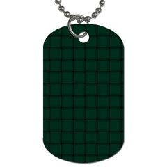 Dark Green Weave Dog Tag (Two Sided)