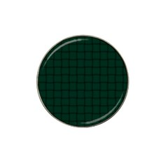 Dark Green Weave Golf Ball Marker 10 Pack (for Hat Clip)