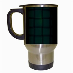 Dark Green Weave Travel Mug (White)