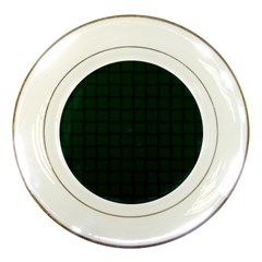 Dark Green Weave Porcelain Display Plate