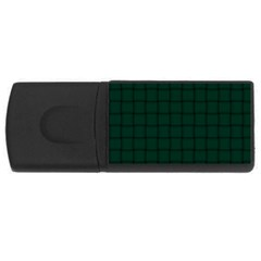 Dark Green Weave 4GB USB Flash Drive (Rectangle)