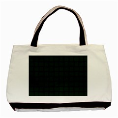 Dark Green Weave Classic Tote Bag