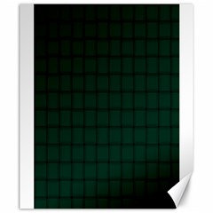 Dark Green Weave Canvas 20  x 24  (Unframed)