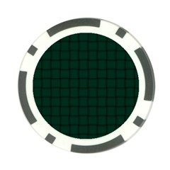Dark Green Weave Poker Chip