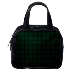 Dark Green Weave Classic Handbag (one Side)