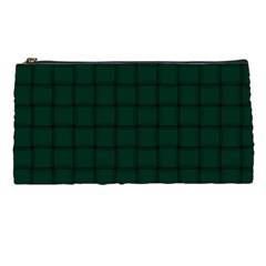 Dark Green Weave Pencil Case