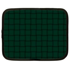 Dark Green Weave Netbook Case (XXL)