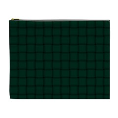 Dark Green Weave Cosmetic Bag (XL)