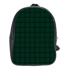 Dark Green Weave School Bag (large)