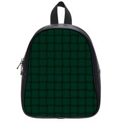 Dark Green Weave School Bag (Small)