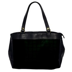 Dark Green Weave Oversize Office Handbag (One Side)