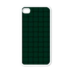 Dark Green Weave Apple Iphone 4 Case (white)