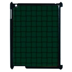 Dark Green Weave Apple iPad 2 Case (Black)