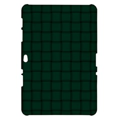Dark Green Weave Samsung Galaxy Tab 10.1  P7500 Hardshell Case