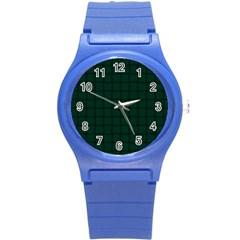 Dark Green Weave Plastic Sport Watch (small)