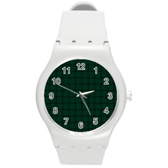 Dark Green Weave Plastic Sport Watch (medium)