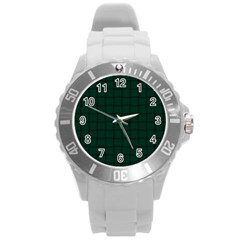 Dark Green Weave Plastic Sport Watch (large)