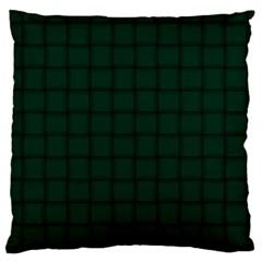 Dark Green Weave Large Cushion Case (One Side)