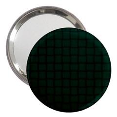 Dark Green Weave 3  Handbag Mirror