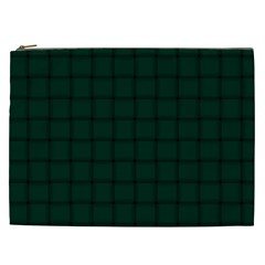Dark Green Weave Cosmetic Bag (xxl)
