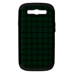 Dark Green Weave Samsung Galaxy S III Hardshell Case (PC+Silicone)
