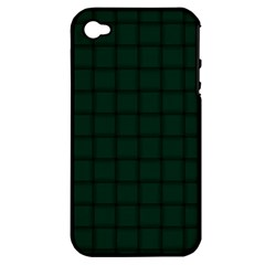 Dark Green Weave Apple iPhone 4/4S Hardshell Case (PC+Silicone)