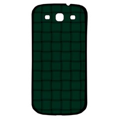 Dark Green Weave Samsung Galaxy S3 S Iii Classic Hardshell Back Case