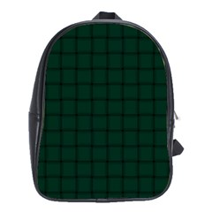 Dark Green Weave School Bag (XL)