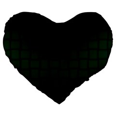 Dark Green Weave 19  Premium Heart Shape Cushion