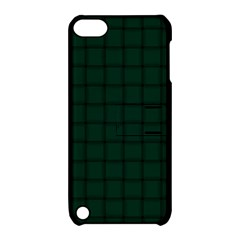 Dark Green Weave Apple iPod Touch 5 Hardshell Case with Stand