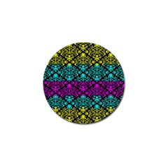 Cmyk Damask Flourish Pattern Golf Ball Marker 4 Pack