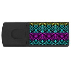 Cmyk Damask Flourish Pattern 1GB USB Flash Drive (Rectangle)